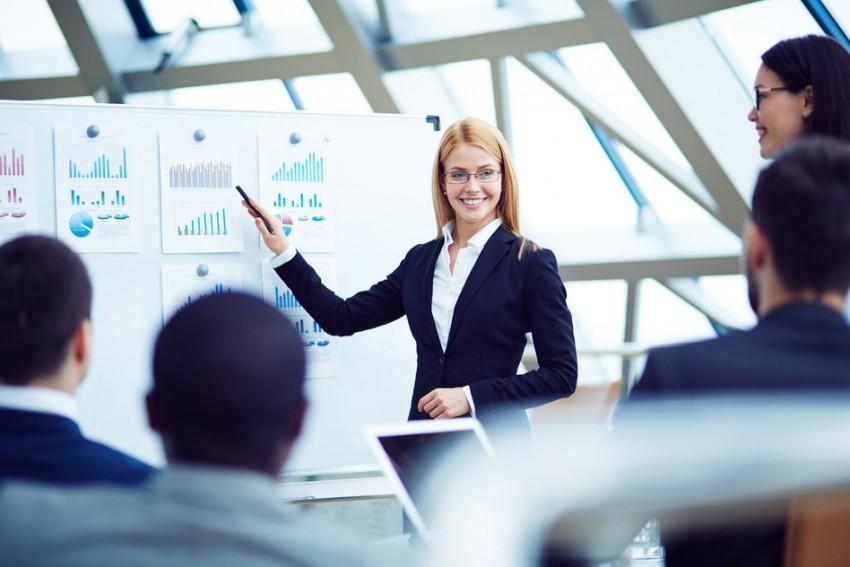 female speaker accountant