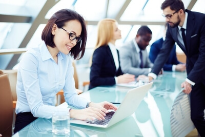 accountant working woman