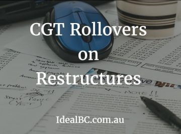CGT rollovers